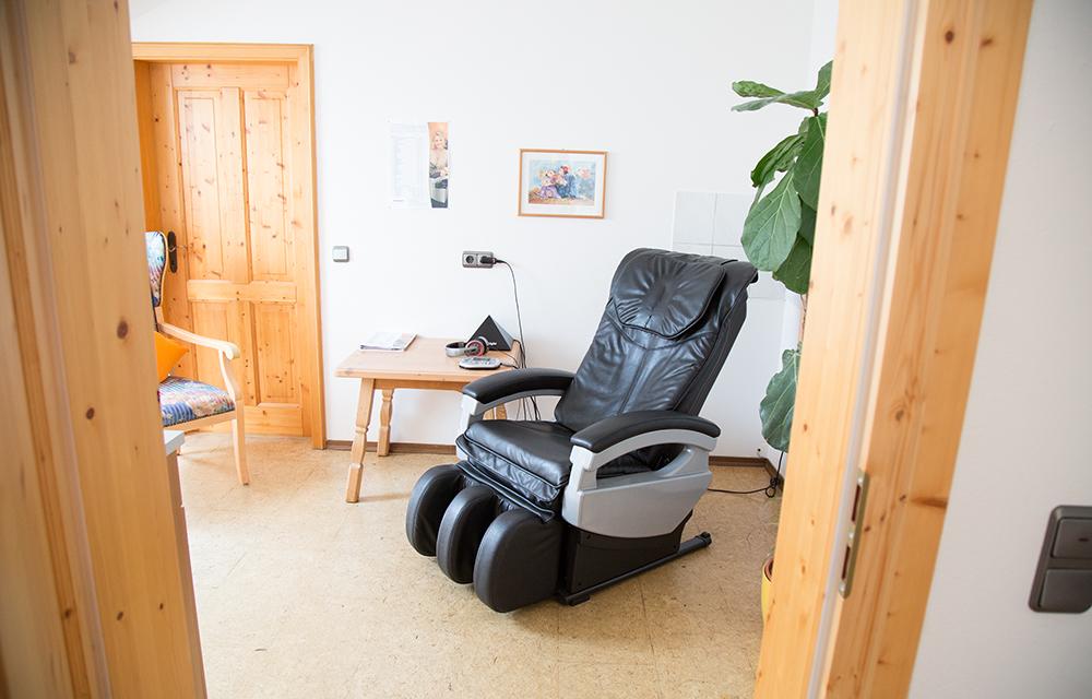 Massagestuhl, Entspannung, Alkoholtherapie GA Albrecht