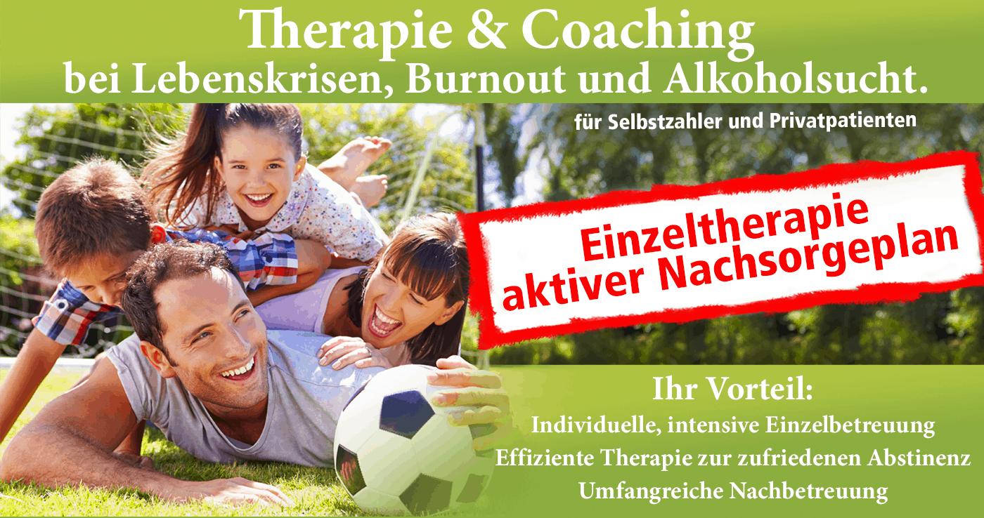 Therapie und Coaching bei Lebenskrisen, Burnout und Alkoholsucht